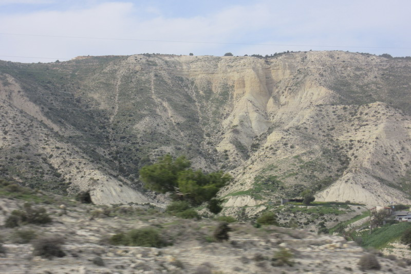 Дорога от Ларнаки до Пафоса. Скалы