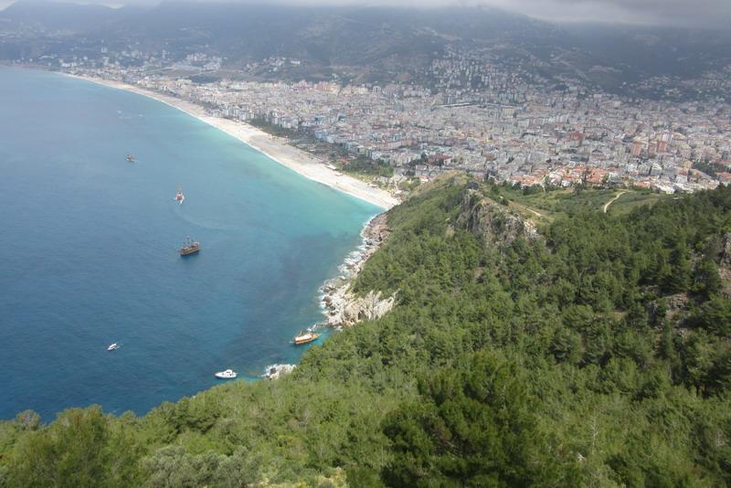 Ичкале, вид на пляж Клеопатры