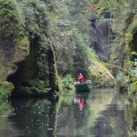 Чешская Швейцария, Грженско — на лодках по каньону