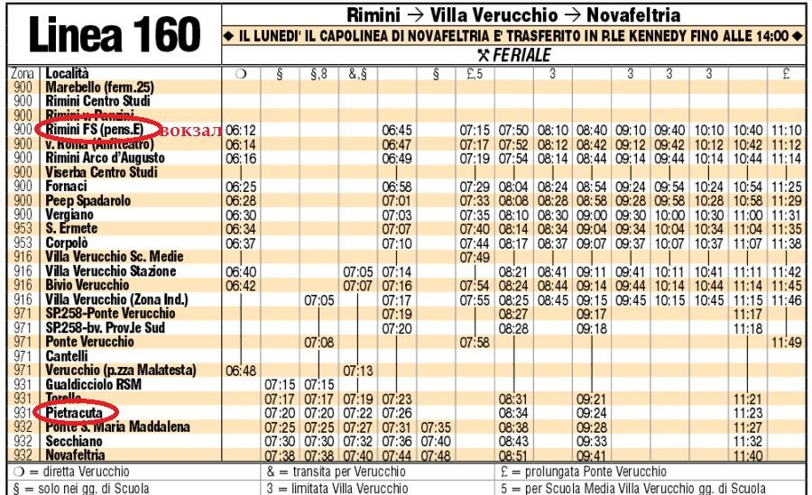 Расписание автобуса из Римини в Сан-Лео
