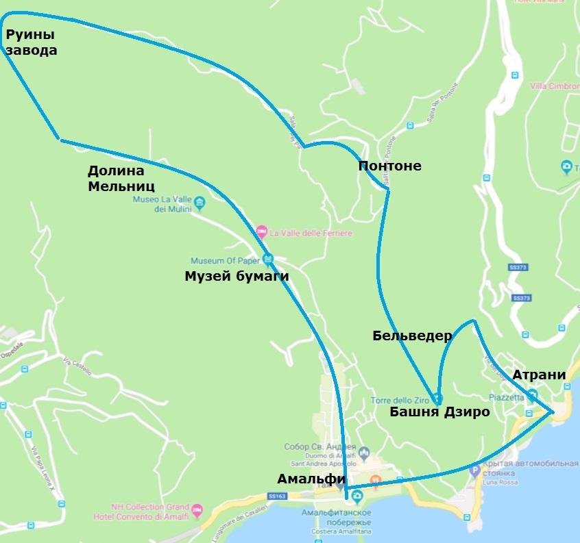 долина мельниц на карте