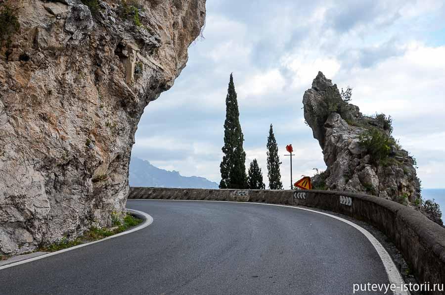 дорога из Конка в Амальфи
