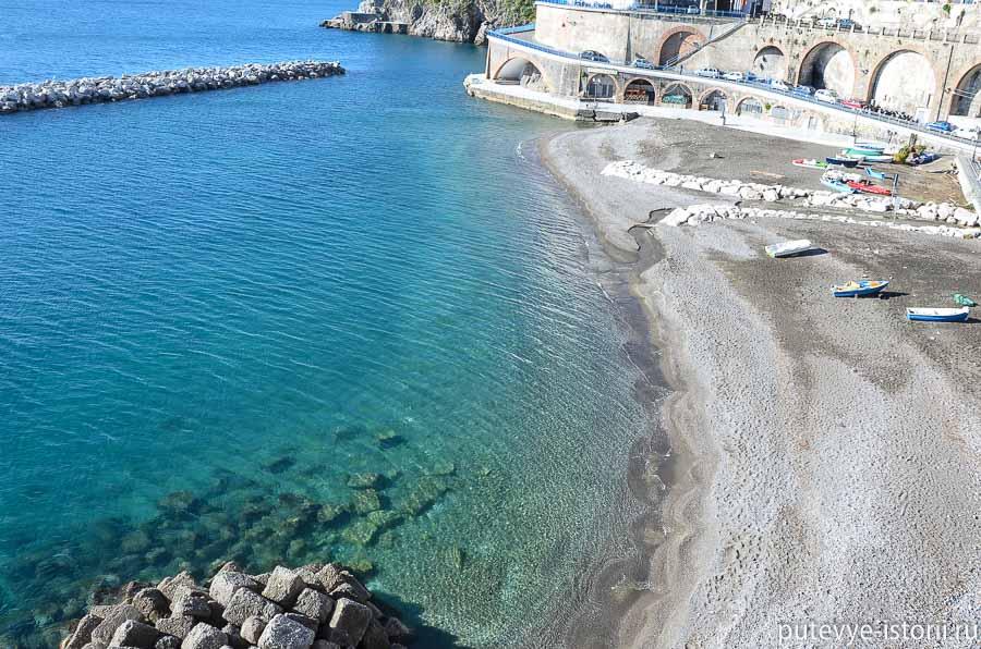 атрани пляж