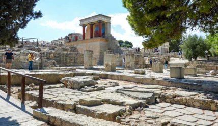 Кносский дворец на Крите, фрески минойской цивилизации