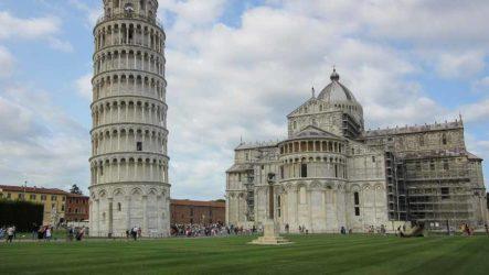 Пизанская башня внутри и снаружи. Пиза с высоты Пизанской башни