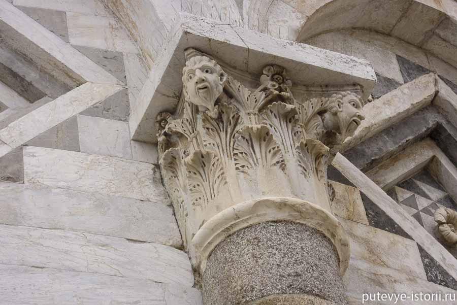 пизанская башня капители