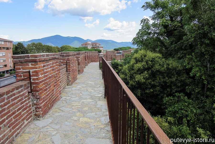 пиза маршрут по крепостной стене