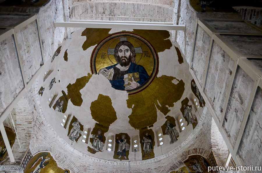 монастырь дафни фрески