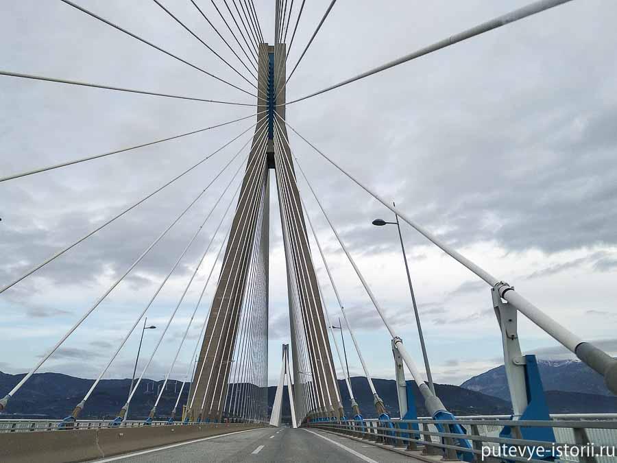 вантовый мост в рио через коринфский залив