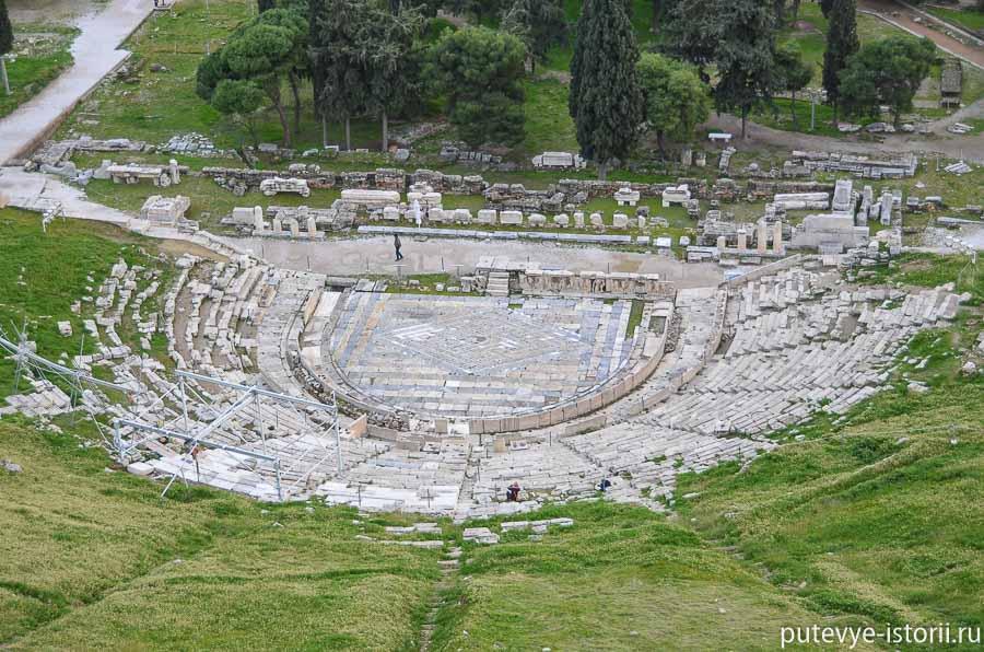 театр Диониса под акрополем античные афины
