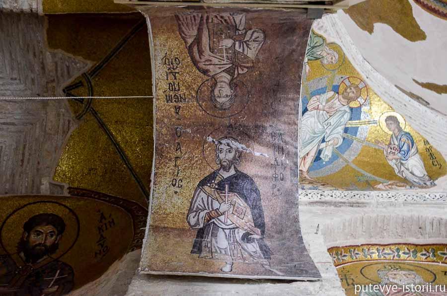 монастырь дафни мозаики