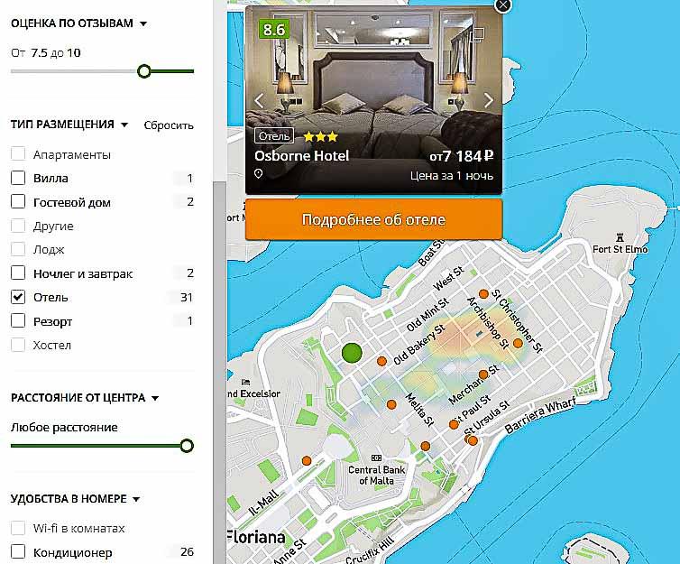 хотеллук карта отелей