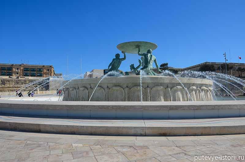 валлетта фонтан тритон