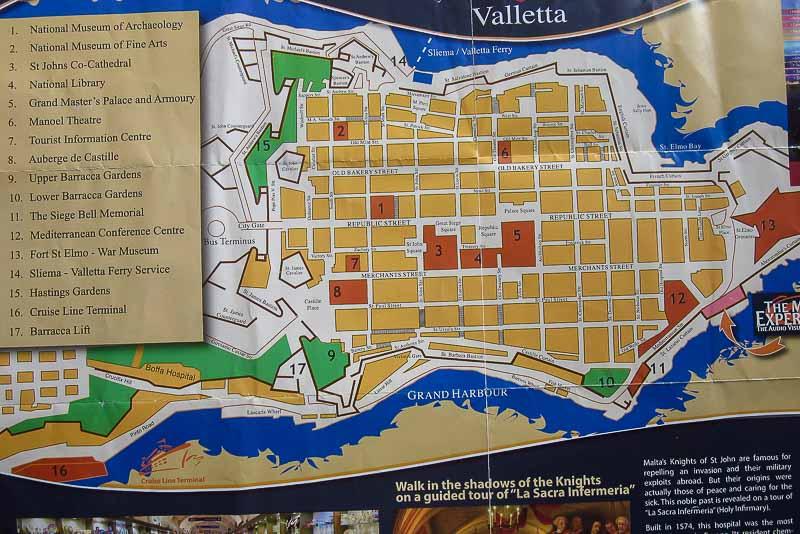 валлетта карта