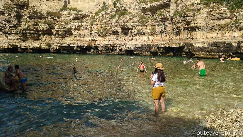 полиньяно-а-маре пляжи апулии