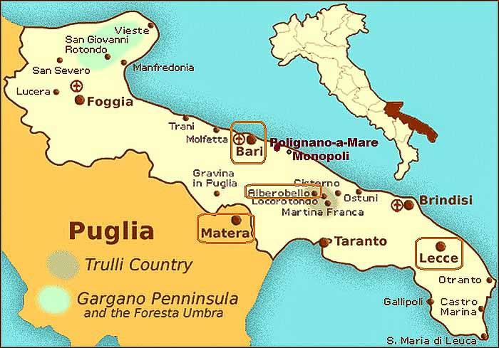 апулия карта