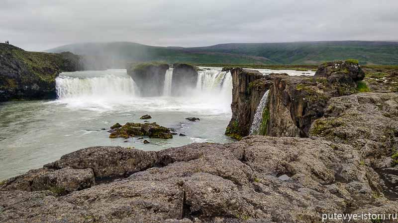 исландия водопад годафосс
