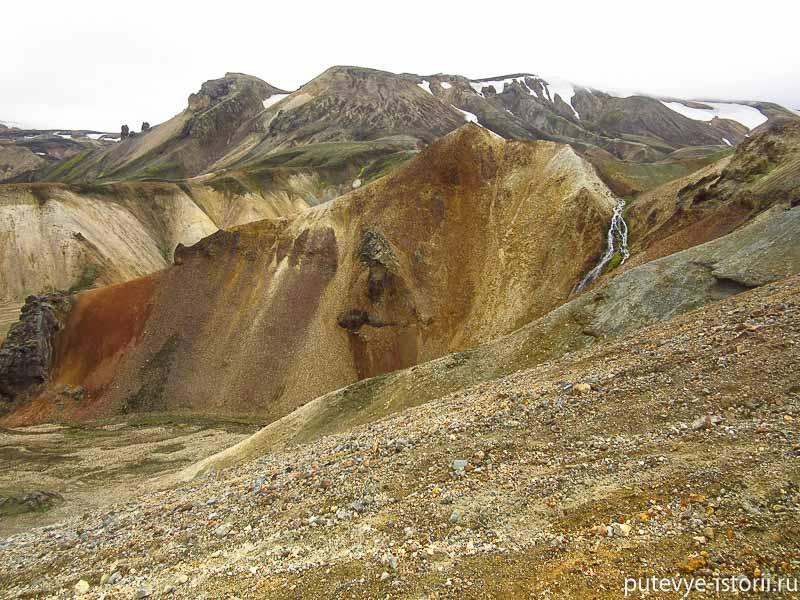 исландия цветные горы