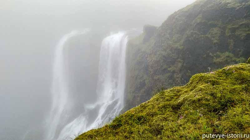 исландия водопад Fagrifoss