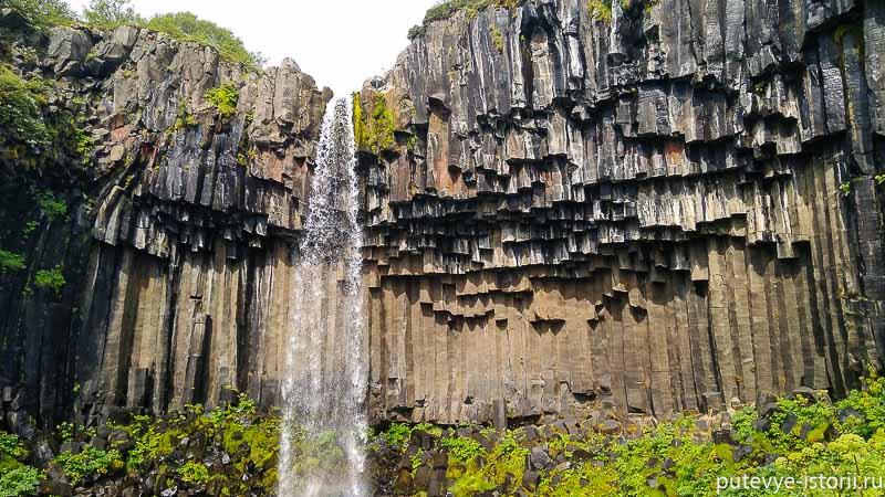 исландия водопад свартифосс