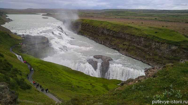 исландия водопад гюдльфосс