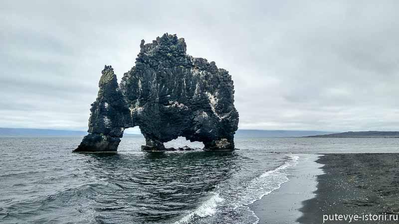исландия скала слон