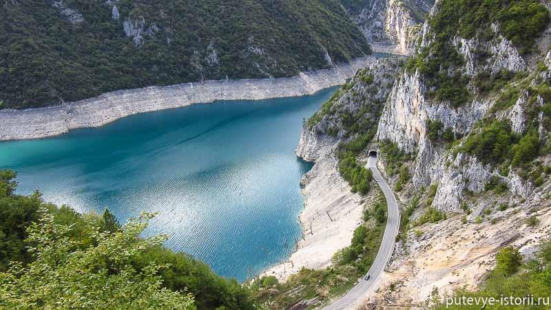 на машине по черногории. Пивское водохранилище