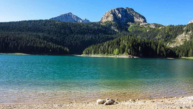на машине по черногории. черное озеро