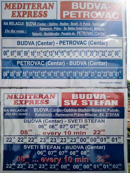 расписание автобусов будва