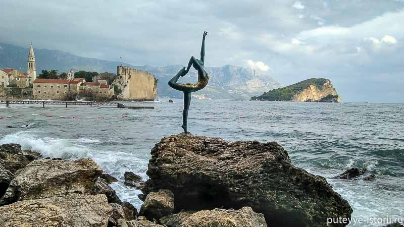 будва памятник балерине