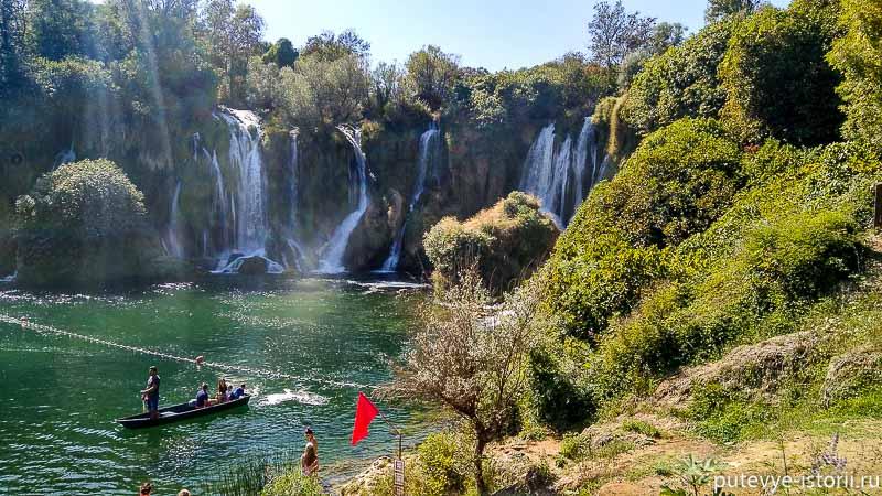 босния водопады кравице