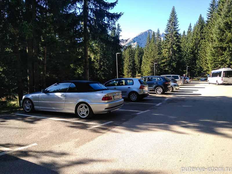 дурмитор парковка у черного озера