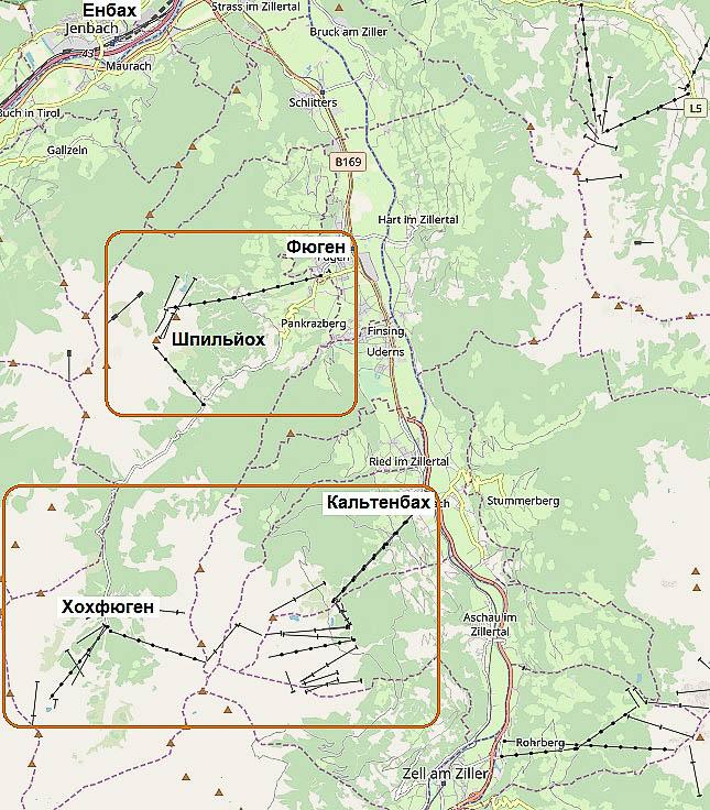 долина циллерталь кальтенбах