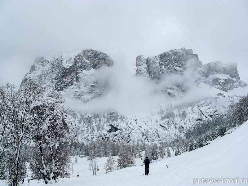горнолыжный курорт в альпах