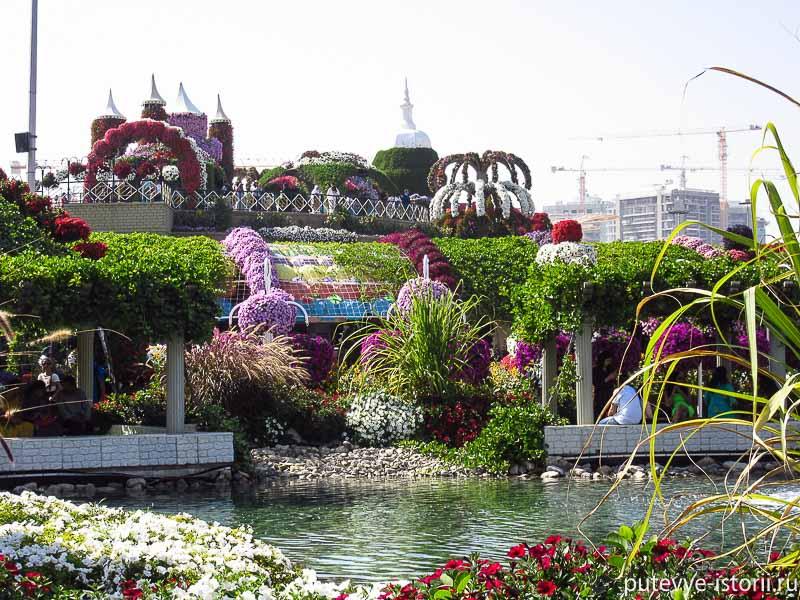 парк цветов в дубае фото