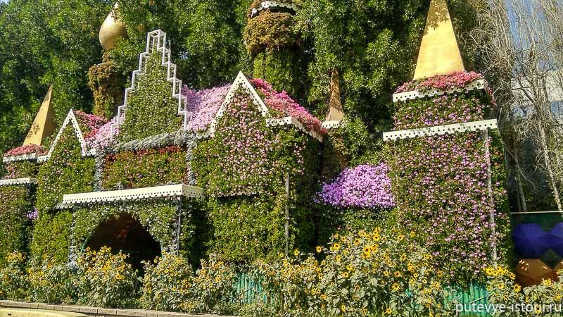 парк цветов дубай достопримечательности