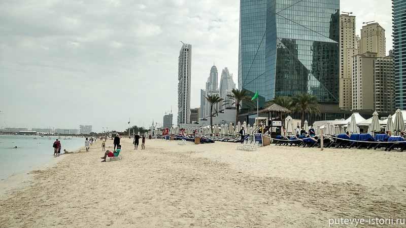 дубай марина пляж