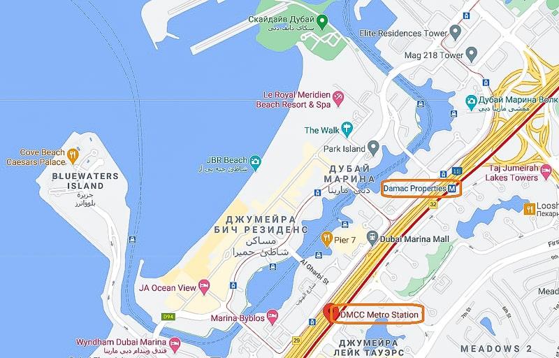 дубай марина метро
