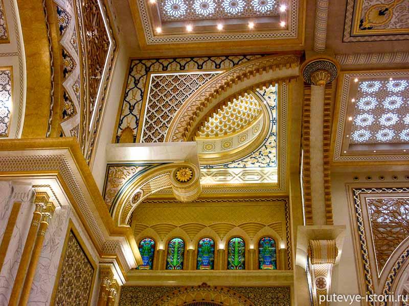 Большой зал дворец в абу-даби