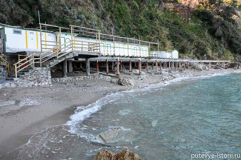 капри пляж бани тиберия