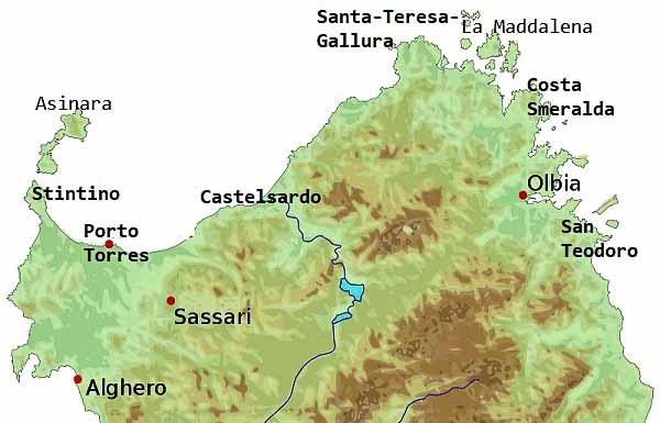 сардиния карта