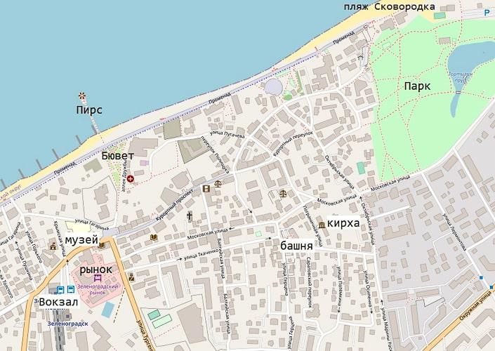 карта зеленоградска центр