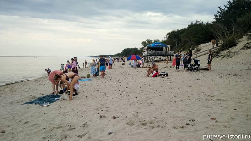 зеленоградск пляж