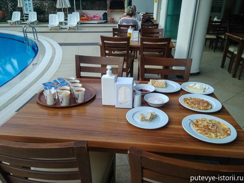 олюдениз отель Монтебелло резорт завтрак