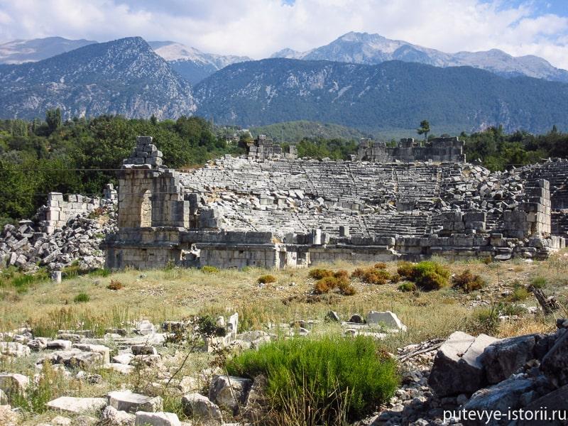 древний город тлос театр