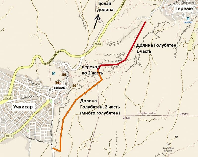 долина голубятен на карте