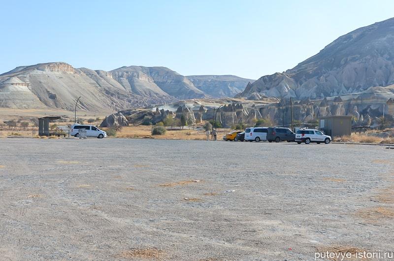парковка около долины пашабаг