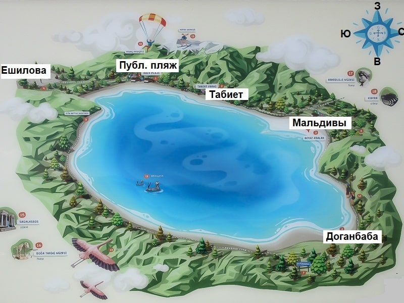озеро салда карта