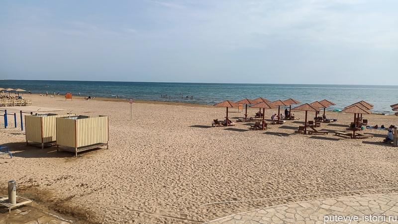 пляж в дерюенте