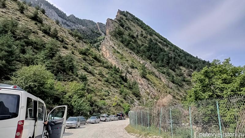 карадахская теснина парковка